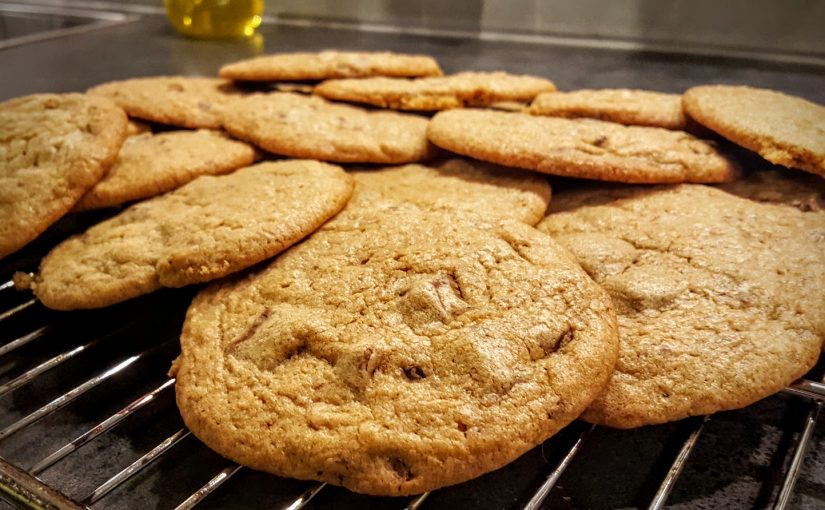 Myke sjokolade-cookies