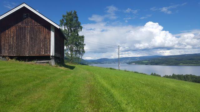 Plutselig så vi Lillehammer i det fjerne.