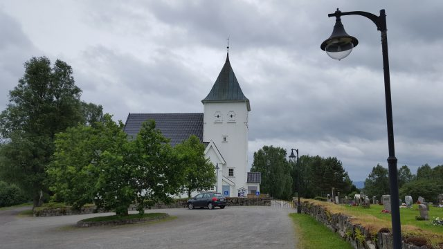 Frogner kirke, den siste vi rakk å se på turen.