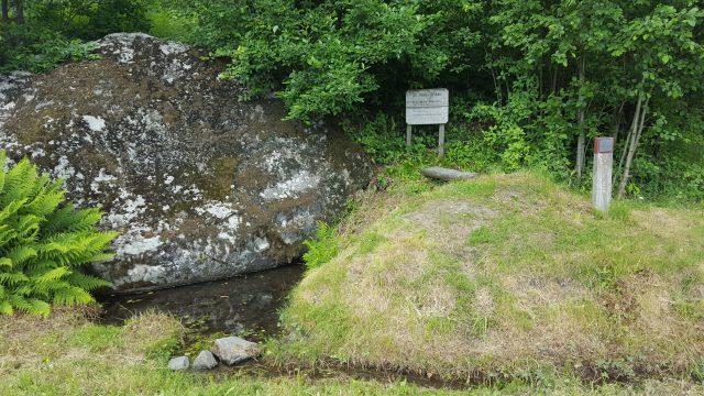 Olavskilden på Brøttum, med noe tvilsom vannkvalitet.