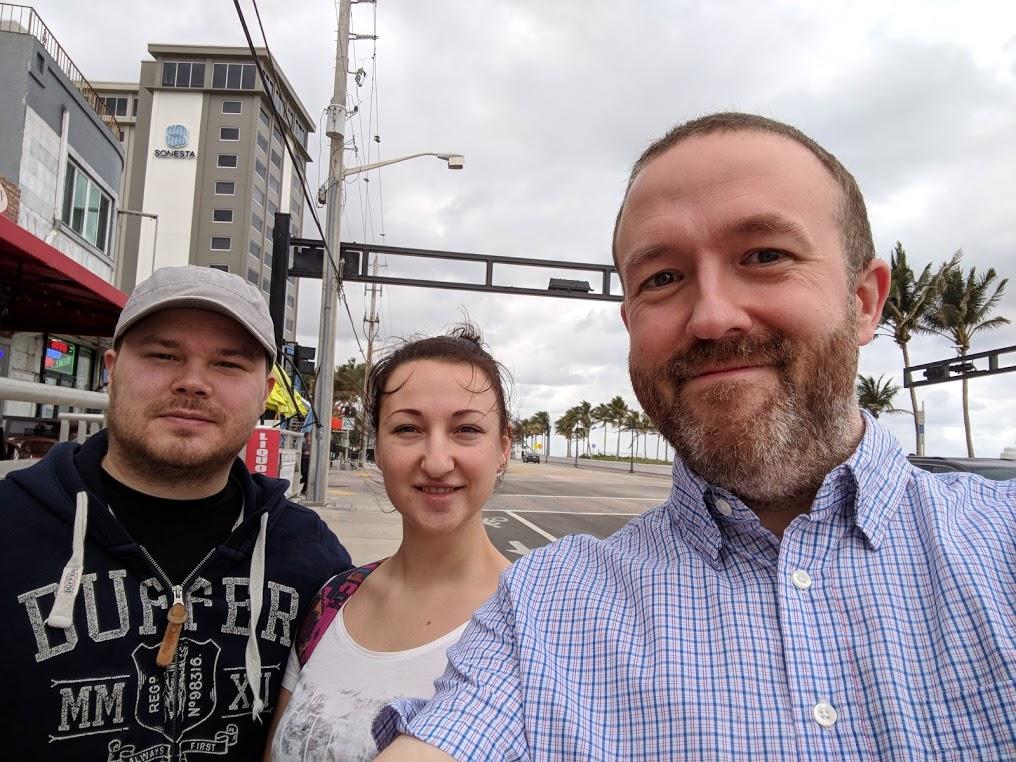 Selfie med Christoffer, Anastasiia og meg.